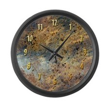 """Grunge"" Custom Large Wall Clock"