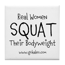 Real Women Squat Tile Coaster
