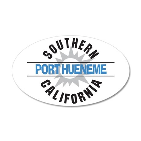 Port Hueneme California 38.5 x 24.5 Oval Wall Peel