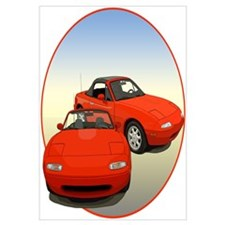 Cute Mazda miata Wall Art