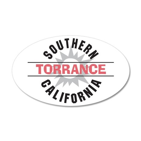 Torrance California 22x14 Oval Wall Peel