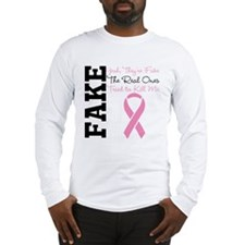 Yeah Fake Breast Cancer Long Sleeve T-Shirt