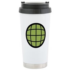 Captain Planet Globe Logo Ceramic Travel Mug