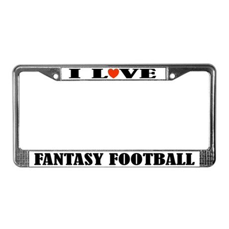 Fantasy Football License Frame (I Heart)