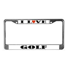 Golf Gift License Plate Frame (I Love)