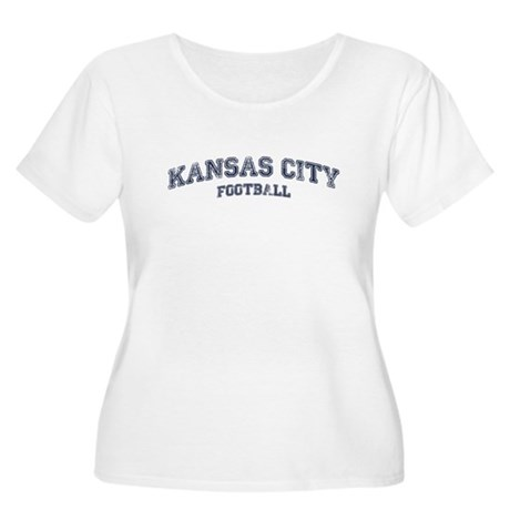 Kansas City Football Women's Plus Size Scoop Neck