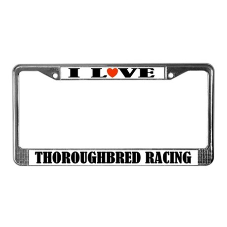 Thoroughbred Racing License Plate Frame