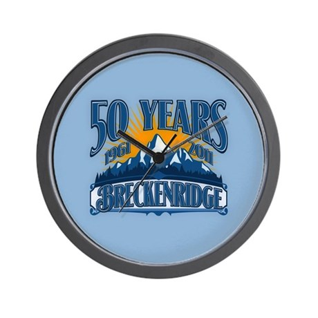 Breckenridge Blue Mountain Wall Clock