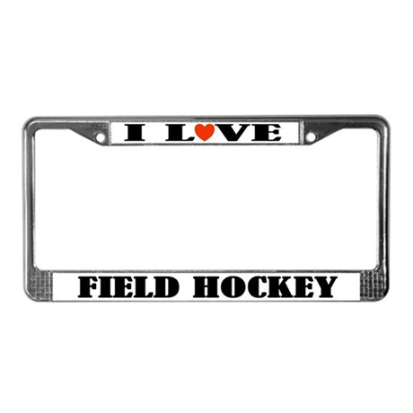 Field Hockey License Plate Frame Gift