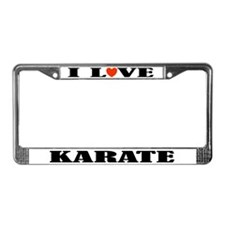 I Love Karate License Plate Frame