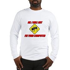 Cute Computer geek Long Sleeve T-Shirt