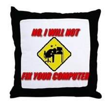 Cute Computer geek Throw Pillow