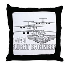 C-141 Flight Engineer Throw Pillow