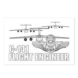 C-141 Flight Engineer Postcards (Package of 8)