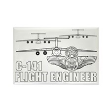 C-141 Flight Engineer Rectangle Magnet (10 pack)