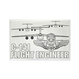 C-141 Flight Engineer Rectangle Magnet