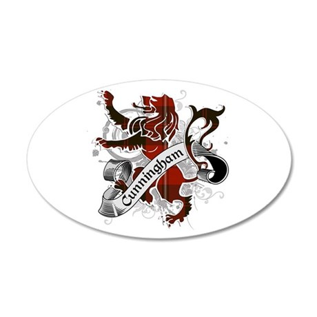 Cunningham Tartan Lion 20x12 Oval Wall Decal