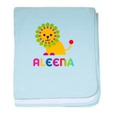Aleena the Lion baby blanket