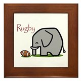 Rugby Elephant (2) Framed Tile