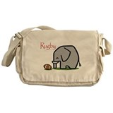 Rugby Elephant (2) Messenger Bag