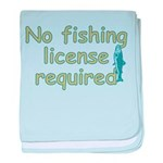 No Fishing License baby blanket