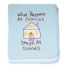 Nana's House baby blanket
