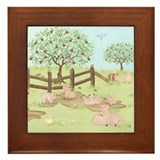 Apple Tree - Pig Framed Tile