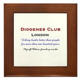 Diogenes Club Framed Tile