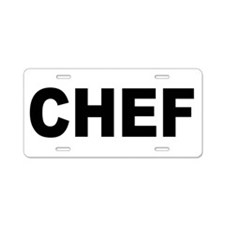 Chef Aluminum License Plate