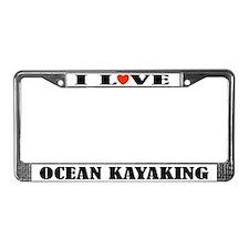 Ocean Kayaking License Plate Frame
