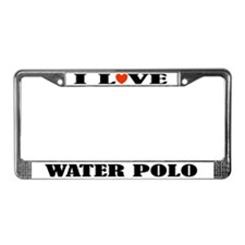 Water Polo License Plate Frame (I Love)