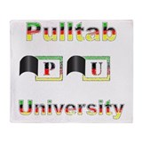Pulltab University Throw Blanket