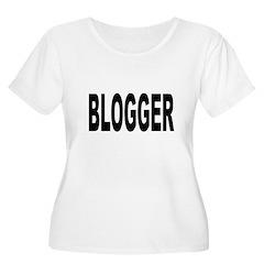 Blogger Women's Plus Size Scoop Neck T-Shirt