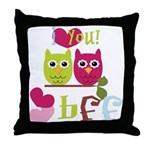 BFF Love Throw Pillow