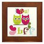 BFF Love Framed Tile