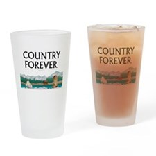 Country Forever Drinking Glass