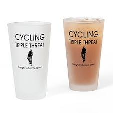 TOP Cycling Slogan Drinking Glass