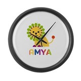 Amya the Lion Large Wall Clock