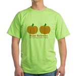 Pumpkins Happy Halloween Green T-Shirt