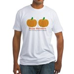 Pumpkins Happy Halloween Fitted T-Shirt