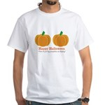Pumpkins Happy Halloween White T-Shirt