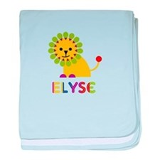 Elyse the Lion baby blanket