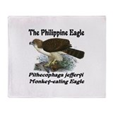 Philippine Eagle Throw Blanket