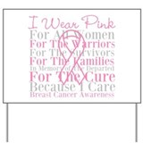 Breast cancer awareness Yard Signs