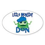 Little Monster Don Sticker (Oval)