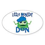 Little Monster Don Sticker (Oval)