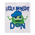 Little Monster Don Throw Blanket
