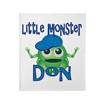 Little Monster Don Throw Blanket