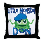 Little Monster Don Throw Pillow
