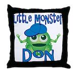 Little Monster Don Throw Pillow